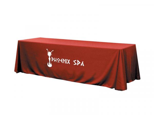 Solid Color Twill Table Throw - 8ft - One Color Perma Logo