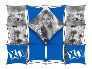 X1 10ft - 4x3 E Fabric Pop-Up Display