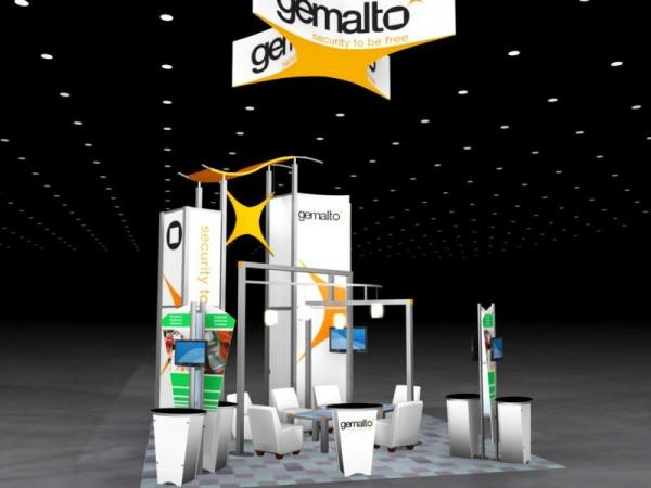 RE-9061 Rental Exhibit / 20� x 20� Island Trade Show Display � Image 4