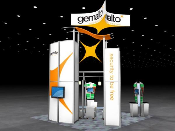 RE-9061 Rental Exhibit / 20� x 20� Island Trade Show Display � Image 3