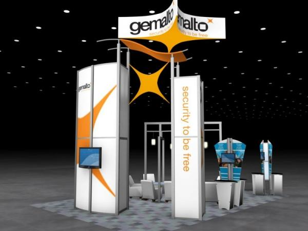 RE-9059 Rental Exhibit / 20� x 30� Island Trade Show Display � Image 3