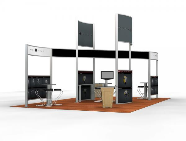 RE-9031 Rental Exhibit / 20� x 30� Island Trade Show Display � Image 1