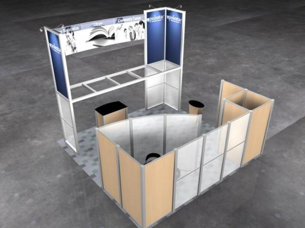 RE-9026 Rental Exhibit / 20� x 20� Island Trade Show Display � Image 4