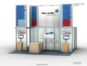 RE-9014 Rental Exhibit / 20� x 20� Island Trade Show Display � Image 1