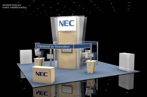 RE-9039 Rental Exhibit / 30� x 30� Island Trade Show Display � Image 1