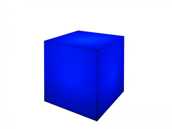 Blue | LED Cube Ottoman -- Trade Show Furniture Rental