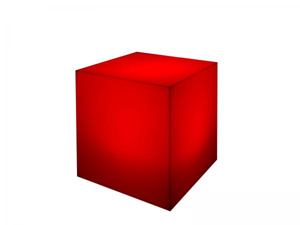 Red | LED Cube Ottoman -- Trade Show Furniture Rental