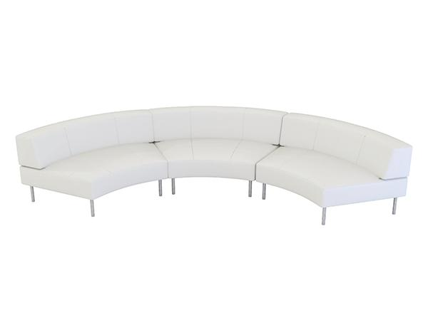 Curved Trade Show Rental Sofa