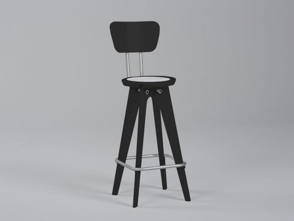 OTM Portable Chair with Seatback -- Black