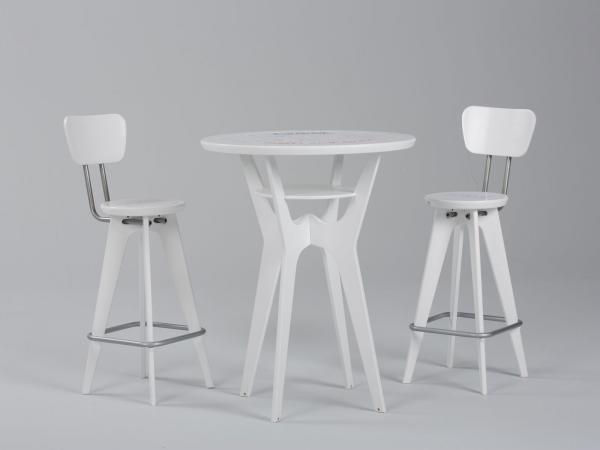 OTM Portable Table and Chairs -- White Version (reversible table)