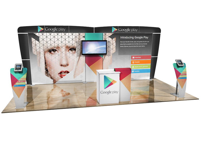 ECO-2053 10' x 20' Sustainable Hybrid Display -- Image 2