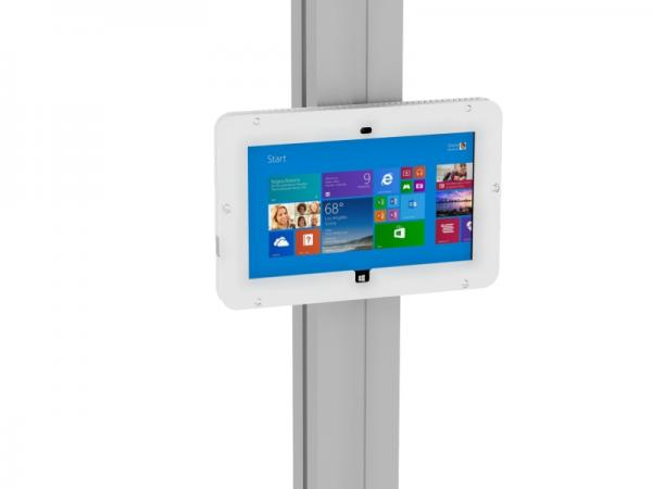 MOD-1318M Secure Surface 2 Enclosure with Extrusion Attachment -- White