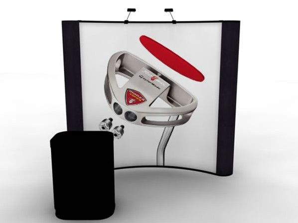 RE-1007 Rental Exhibit / 8' Curved Full Height Inline Trade Show Display � Image 1