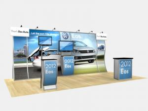 RE-2004 Rental Exhibit / 10' x 20' Inline Trade Show Display � Image 1