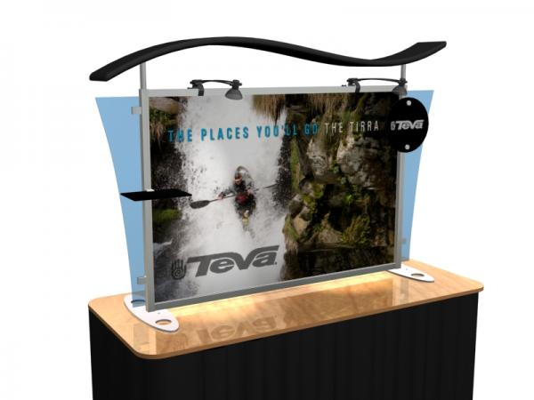 VK-1292 Portable Hybrid Trade Show Table Top Exhibit -- Image 1